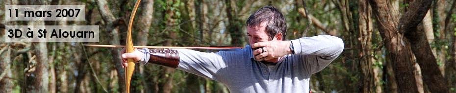 Photos du concours qualificatif de tir 3D, le 11 mars 2007, dans les bois de Saint Alouarn.