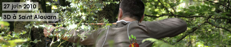 Photos du concours qualificatif de tir 3D, le 27 juin 2010, dans les bois de Saint Alouarn.