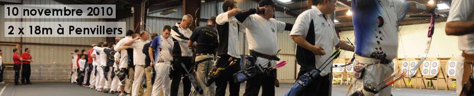 Photos du concours qualificatif de tir en salle 2x18 m, le 10 octobre 2010, à Penvillers.