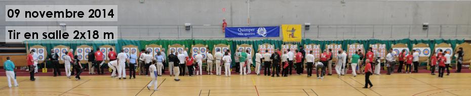 Photos du concours qualificatif de tir en salle 2x18 mètres, à Quimper le 09 novembre 2014.