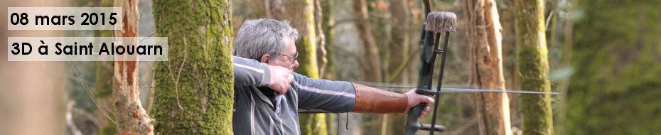 Photos du concours qualificatif de tir 3D, le 08 mars 2015, à Saint Alouarn.